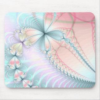 pastel flower chains mouse mat
