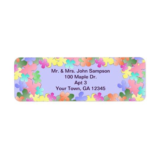 Pastel Flower Collage Custom Return Address Label