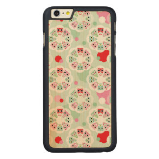 pastel flower owl background pattern carved® maple iPhone 6 plus case