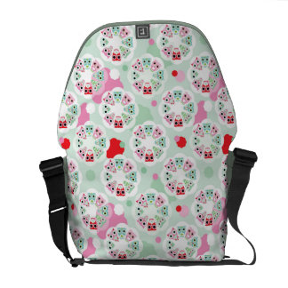 pastel flower owl background pattern courier bags