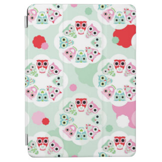 pastel flower owl background pattern iPad air cover