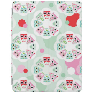 pastel flower owl background pattern iPad cover