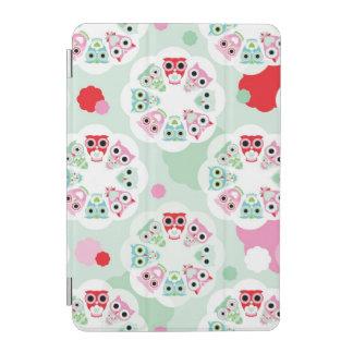 pastel flower owl background pattern iPad mini cover
