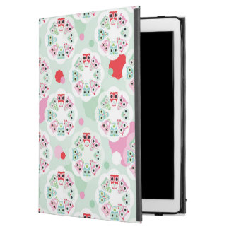 "pastel flower owl background pattern iPad pro 12.9"" case"