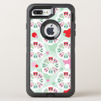 pastel flower owl background pattern OtterBox defender iPhone 8 plus/7 plus case