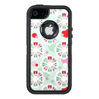 pastel flower owl background pattern OtterBox defender iPhone case