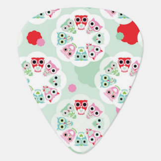 pastel flower owl background pattern plectrum