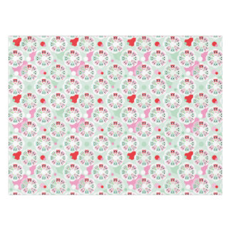 pastel flower owl background pattern tablecloth