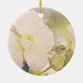 Pastel Flower Photography Christmas Tree Ornaments