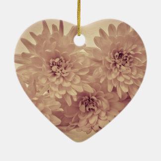 Pastel Flowers Christmas Ornament