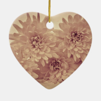 Pastel Flowers Christmas Ornament