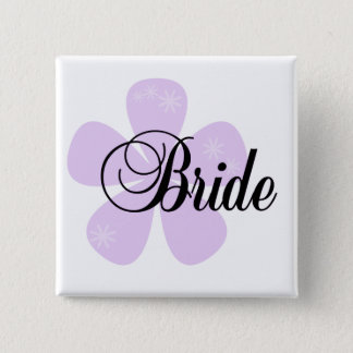 Pastel Flowers Lilac Bride Tshirts and Gifts 15 Cm Square Badge