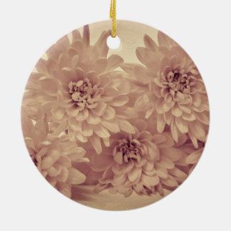 Pastel Flowers Round Ceramic Decoration