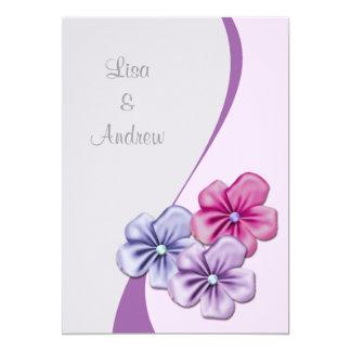 Pastel Flowers Wedding Invitation