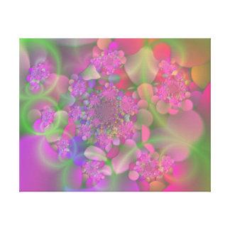 Pastel Fractal Flower Garden Canvas Print