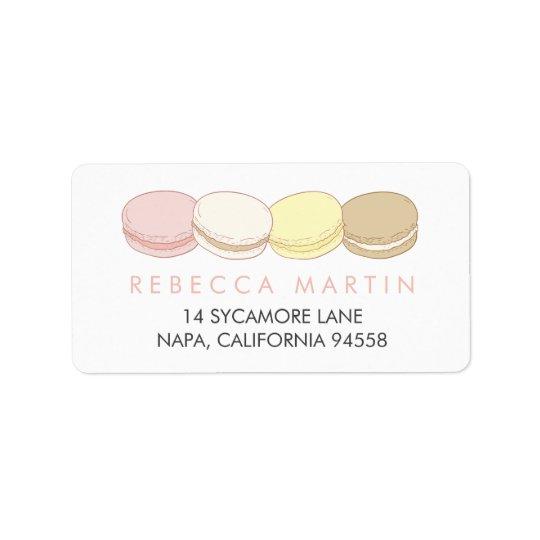 Pastel French Macarons Return Address Label