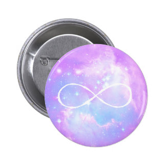 Pastel galaxy infinity loop 6 cm round badge
