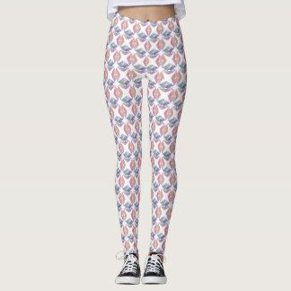 Pastel Geometric Diamond Pattern Leggings