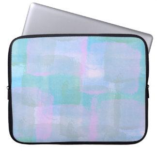 Pastel Geometric Lines Laptop Sleeve