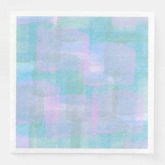 Pastel Geometric Lines Paper Napkins