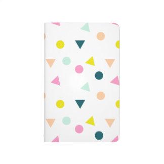 Pastel Geometric Print Notebook