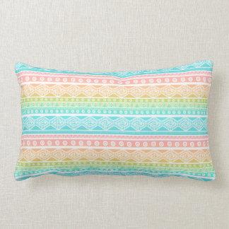 Pastel Girly Aztec Aqua Blue Lumbar Pillow