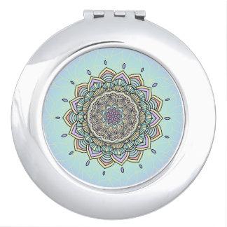 Pastel Glow Mandala ID359 Compact Mirrors