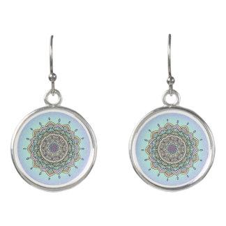 Pastel Glow Mandala ID359 Earrings