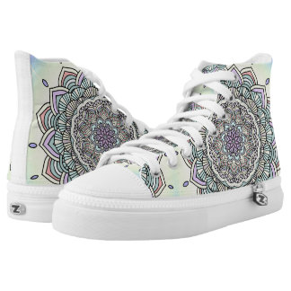 Pastel Glow Mandala ID359 High Tops