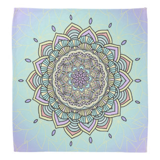 Pastel Glow Mandala ID359 Kerchiefs