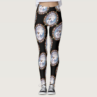 Pastel Goth Skeleton Woman Leggings