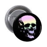 Pastel Goth Soft Rainbow Spooky Skull Pins