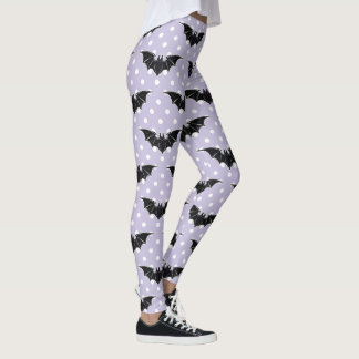 Pastel Goth Spooky Cute Bats Kawaii Leggings