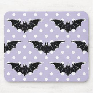 Pastel Goth Spooky Cute Purple Bat Kawaii Mousepad