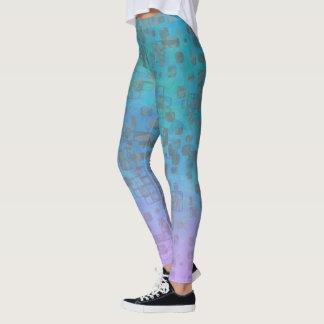 Pastel Gradient Geo Sheeny Leggings