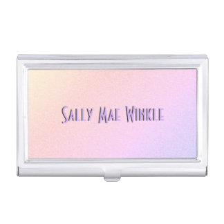 Pastel Gradient Personalized Business Card Holder
