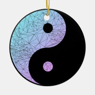 Pastel Gradient Yin Yang Christmas Ornament