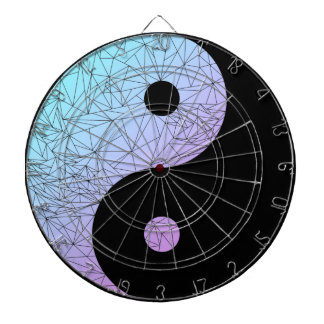 Pastel Gradient Yin Yang Dartboard
