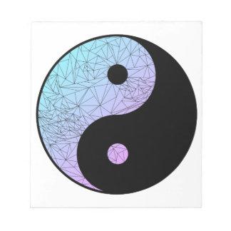 Pastel Gradient Yin Yang Notepad