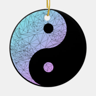 Pastel Gradient Yin Yang Round Ceramic Decoration