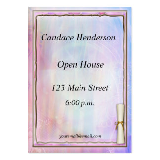 Pastel Graduation Hand-out Business Card Template