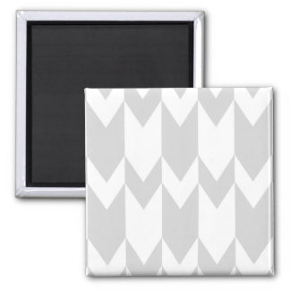 Pastel Gray and White Chevron Pattern. Magnet