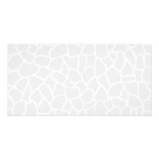 Pastel Gray Animal Print Giraffe Pattern Custom Photo Card