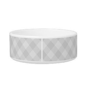 Pastel Gray Tartan Medium Pet Bowl