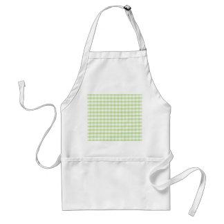 Pastel Green Gingham pattern Standard Apron