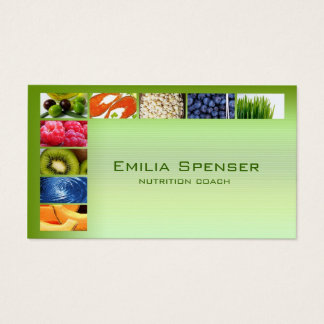 Pastel Green Healthy Life/Nutritionist Card