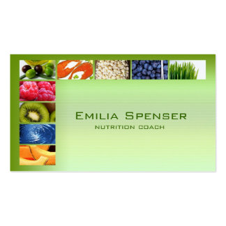 Pastel Green Healthy Life/Nutritionist Card Pack Of Standard Business Cards