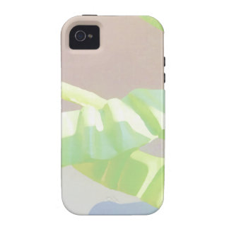 Pastel Green Leaves. iPhone 4 Cover