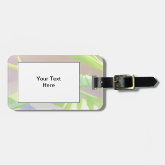Pastel Green Leaves. Luggage Tag