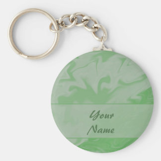 pastel Green Marblized Cloud template Basic Round Button Key Ring